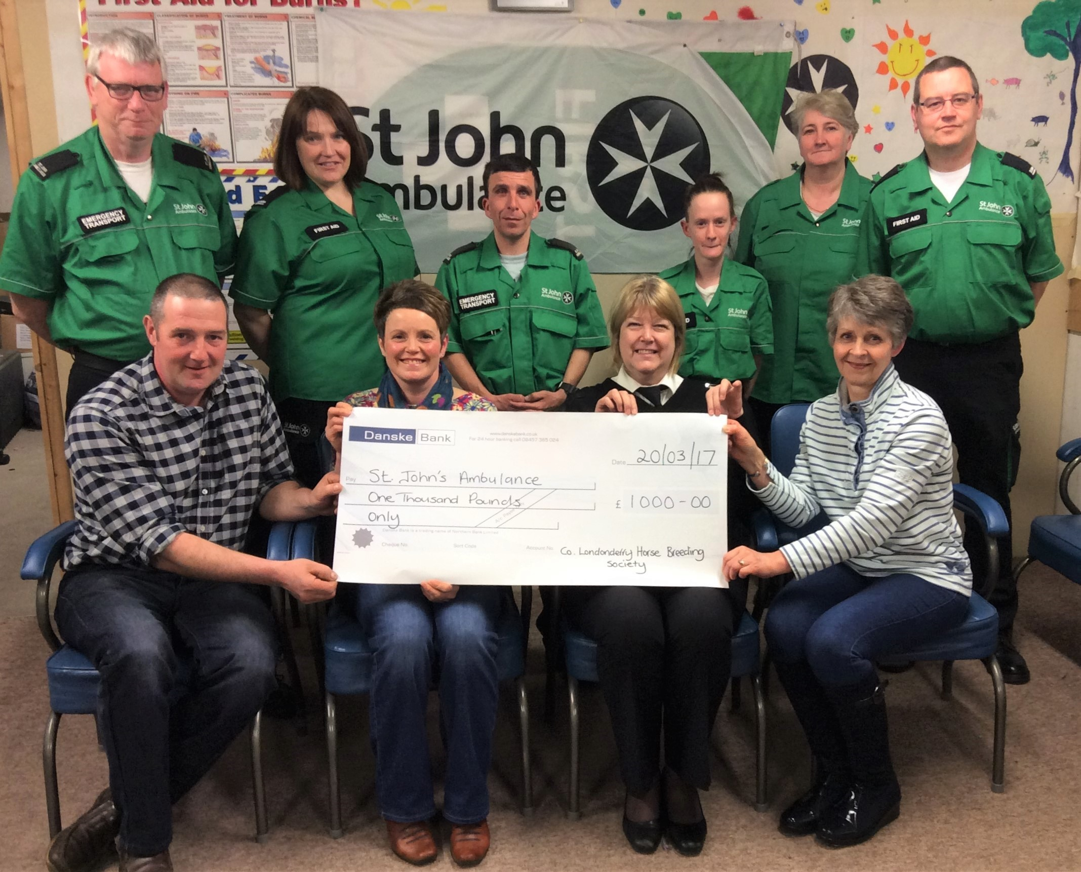 County Londonderry Horse Breeding Society - Charity Presentation -